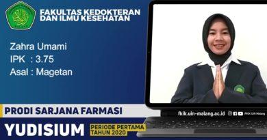 Aktif Organisasi dan Memiliki Passion di bidang Farmasi, Zahra Umami Raih Predikat Lulusan Terbaik Program Studi Sarjana Farmasi