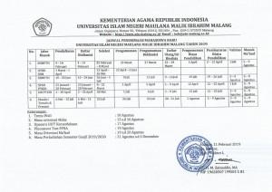 jadwal PMB 19